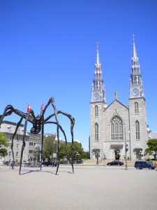 Montreal church & sculpture